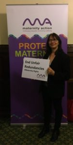 Sally Etheridge Maternity Action at Westminster 1